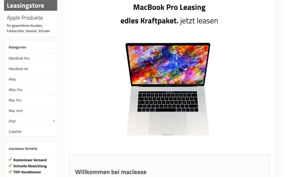 Apple MacBook Pro Leasing – neuer Leasingstore